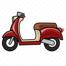bike, motorbike, motorcycle, scooter, vespa icon