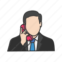 calling, conversation, phone, talk, telephone icon