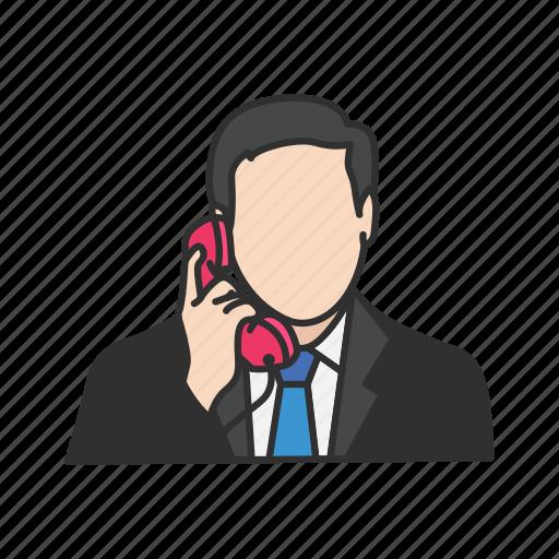calling, conversation, phone, talk, telephone icon