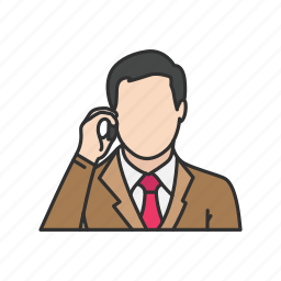 calling, conversation, man talking on the phone, phone, talk, telephone icon