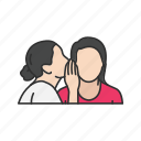 gossip, secret, talking, whisper icon