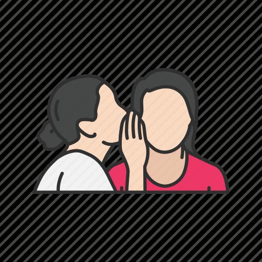 gossip, secret, talking, whisper icon