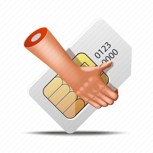 chip, fingers, hands, mobile, sim, simcard, telecom icon