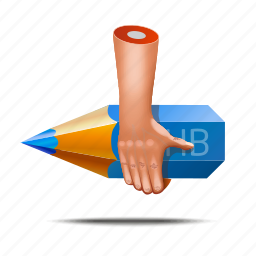 art, artist, designer, fingers, hands, pencil icon