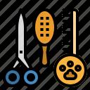 beauty, brush, hair, salon, tool icon