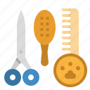 beauty, brush, hair, salon, tool icon