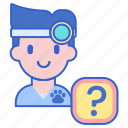ask a vet, diagnosis, veterinarian, veterinary icon