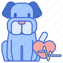 cardio, cardiology, dog, heart, heart condition, heart rate, heartbeat icon