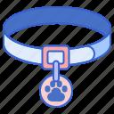 cat collar, collar, dog collar, label, pet collar, tag icon