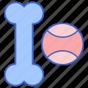 ball, bone, dog, dog toy, dog toys, toy icon