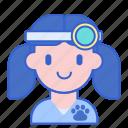 animal doctor, female, female vet, vet, veterinarian, veterinary icon