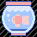 aquarium, fish, goldfish, jar, pet icon