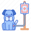 drip, intravenous, intravenous therapy, iv, iv drip, iv pole, sick dog icon
