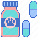medicine, meds, pet medication, pet medicine, pet meds, pet pills icon