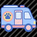 mobile, mobile vet, mobile veterinarian, mobile veterinary, pet van, vet icon