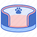bed, cat bed, dog bed, pet, pet bed icon