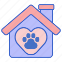 animal home, animal shelter, pet, pet home, pet shelter, shelter icon