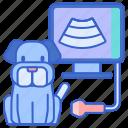 dog ultrasound, pet, pet ultrasound, ultrasound, xray icon