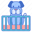 dog cage, dog playpen, playpen icon