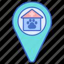 address, clinic, vet, vet address, vet location icon