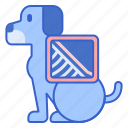 dog xray, ray, x, xray icon