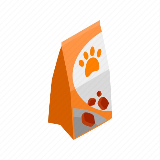 blog, dog, feed, food, health, isometric, packaging icon