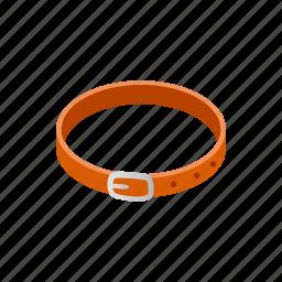 animal, belt, blog, collar, isometric, leather, pet icon