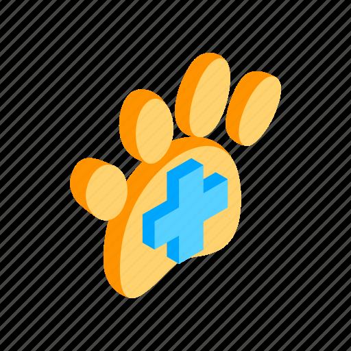 blog, dog, footprint, isometric, paw, print, trail icon