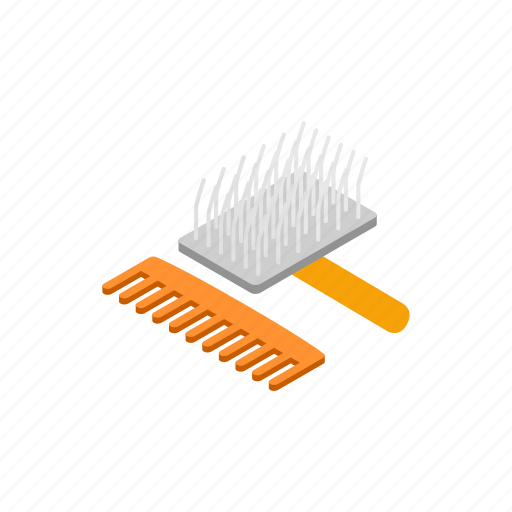 animals, blog, brush, care, comb, hairdresser, isometric icon