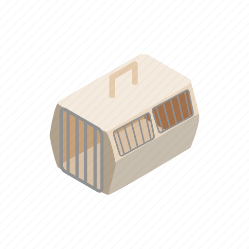 animal, blog, cage, carrier, isometric, transporter, travel icon