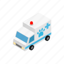 ambulance, blog, doctor, isometric, vet, veterinarian, veterinary icon