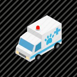 ambulance, blog, doctor, isometric, vet, veterinarian, veterinary icon