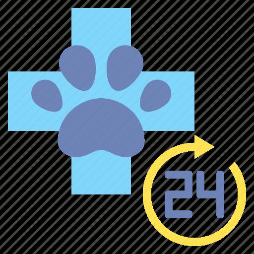 hour, service, vet icon
