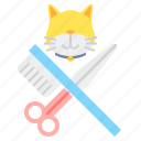 cat, grooming, pet icon