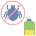prevention, repellant, tick icon