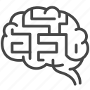 brain, depression, harassment, maze, mind, sufferer, victim icon
