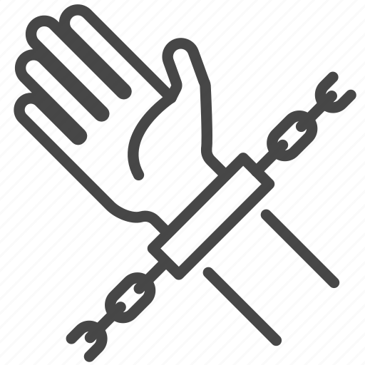 Arrest, captive, chained, imprison, prisoner, victim, handcuffs icon - Download on Iconfinder