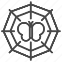 harassment, spider web, sufferer, trap, victim icon