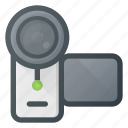 camera, hand, handy, recorder, video icon