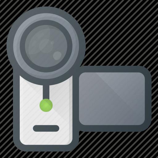 camera, hand, handy, recorder, video icon
