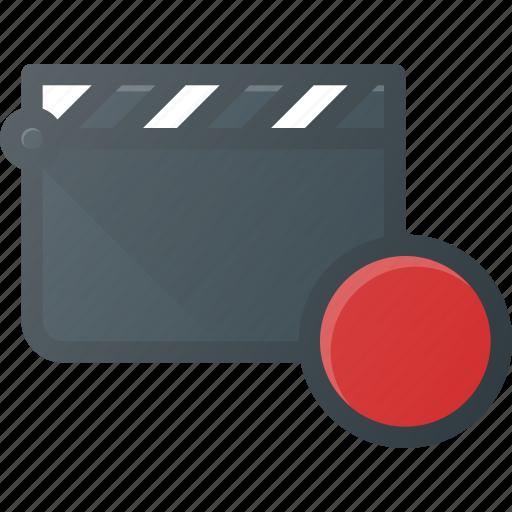 clapper, clip, cut, movie, record icon