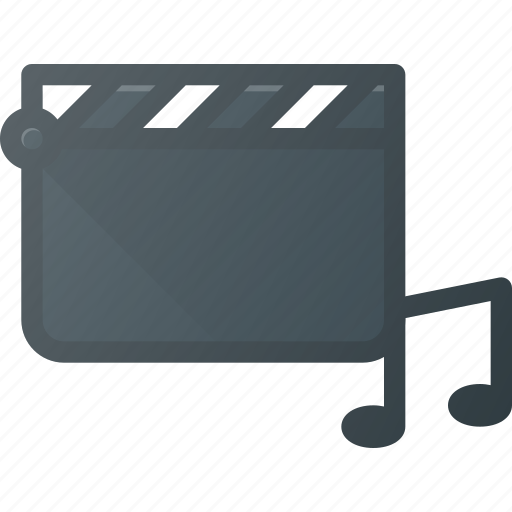 clapper, clip, music, video, videoclip icon