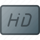 clip, definition, film, hd, high, movie icon