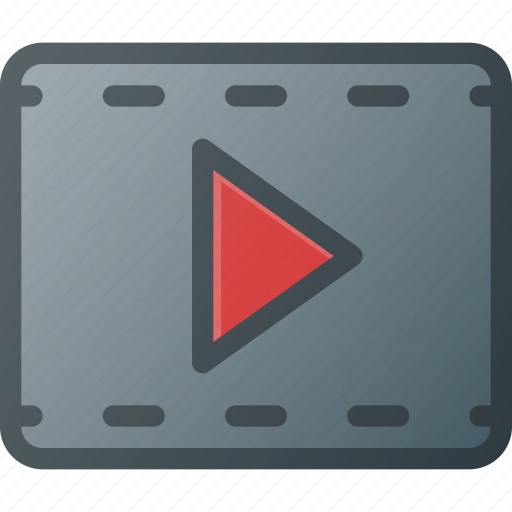 Clip, film, movie, play, player, strip icon - Download on Iconfinder