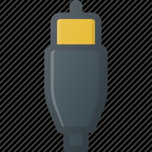 cable, plug, port, rca, video icon