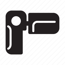 camera, hand, held, record, small, video icon