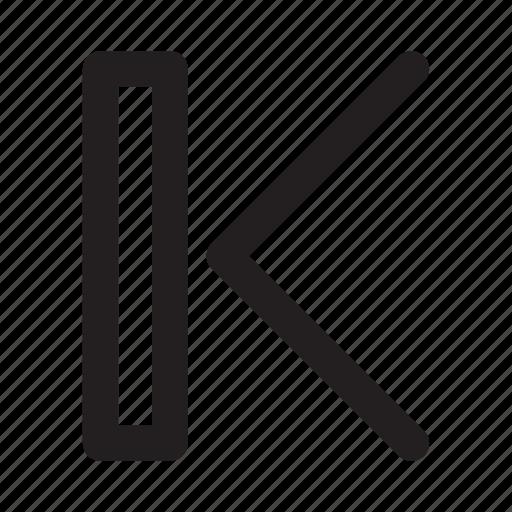 arrow, left, movie, music, previous, video icon