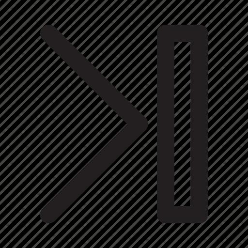 arrow, movie, music, next, right, video icon