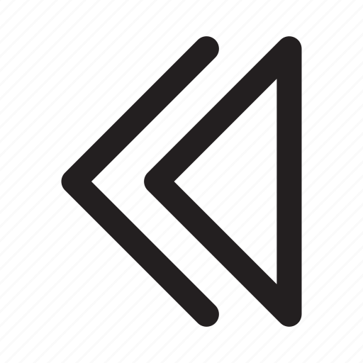arrow, back, left, movie, music, rewind, video icon