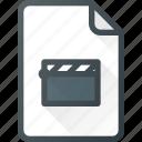 clip, document, video, file, film icon